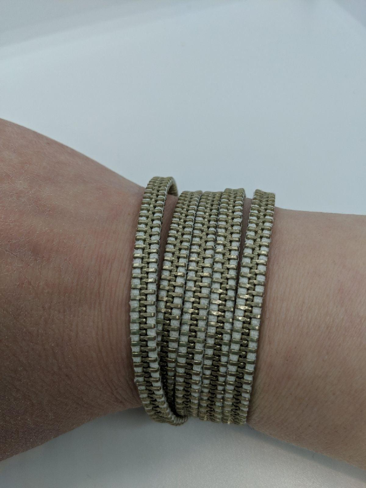 Zipper Wrap Bracelet Necklace Belt New