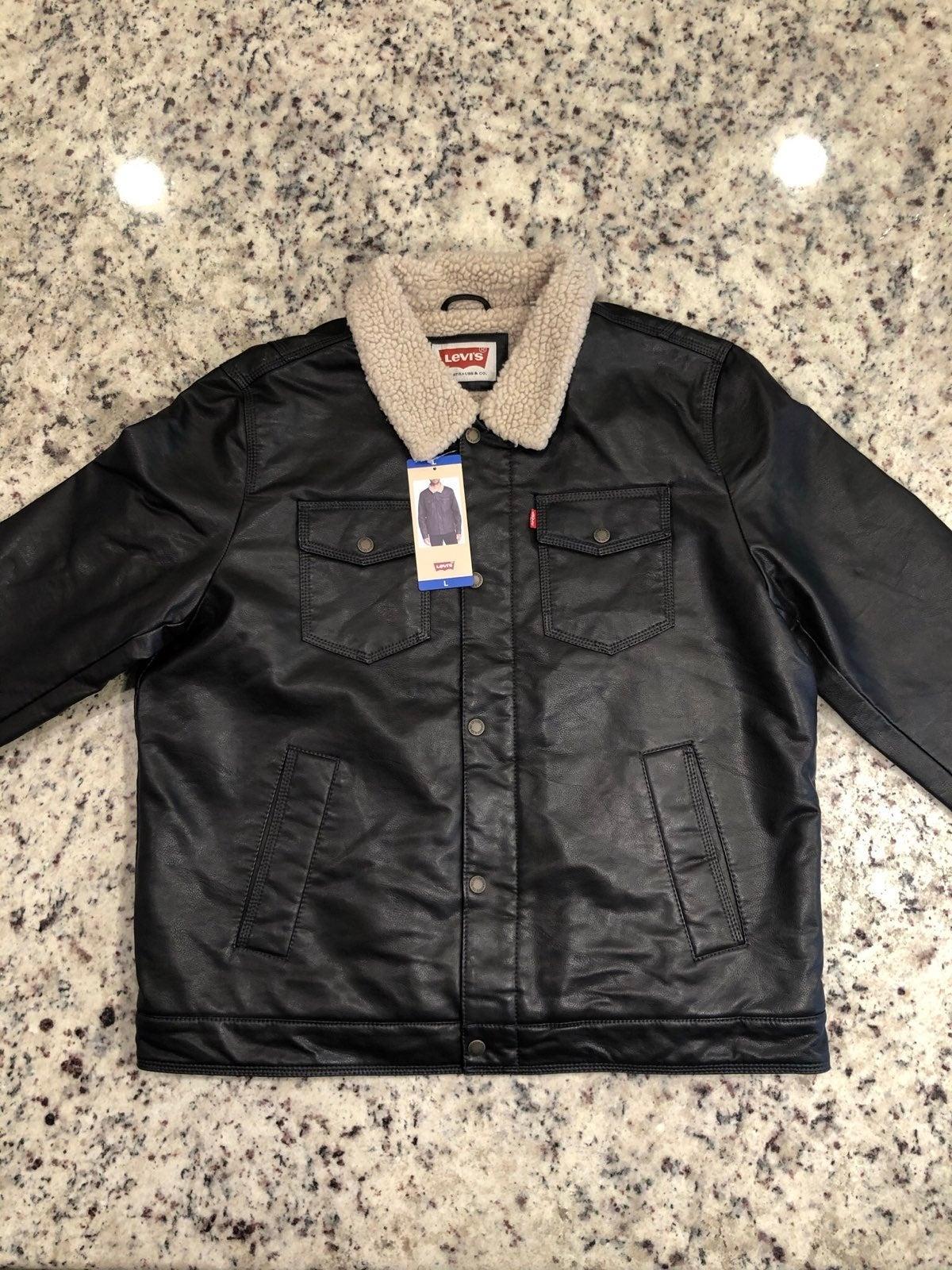 Levi's Men's Faux Leather Sherpa Jacket