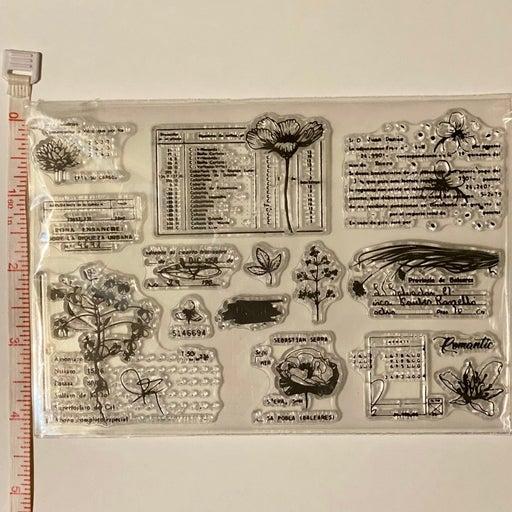 Vintage Botanical Clear Stamp set