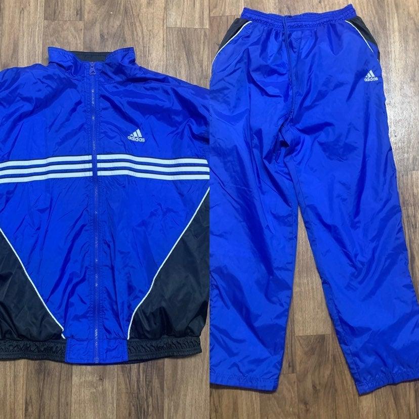 Adidas Vintage Team Blue Track Suit Larg