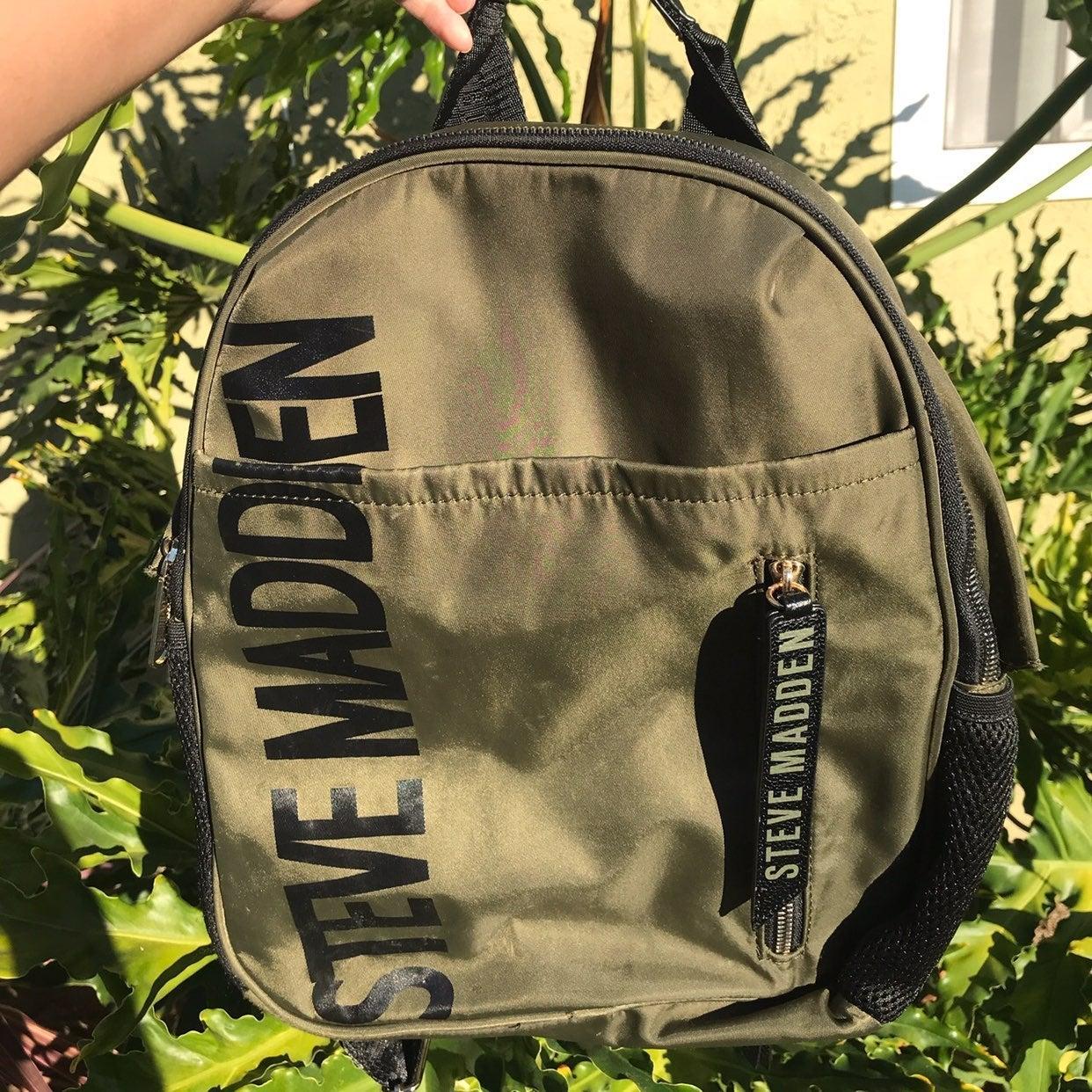 Steve Madden Army Green Backpack