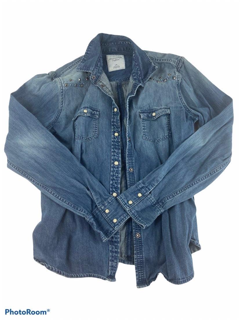 American Eagle Denim Studded Jacket