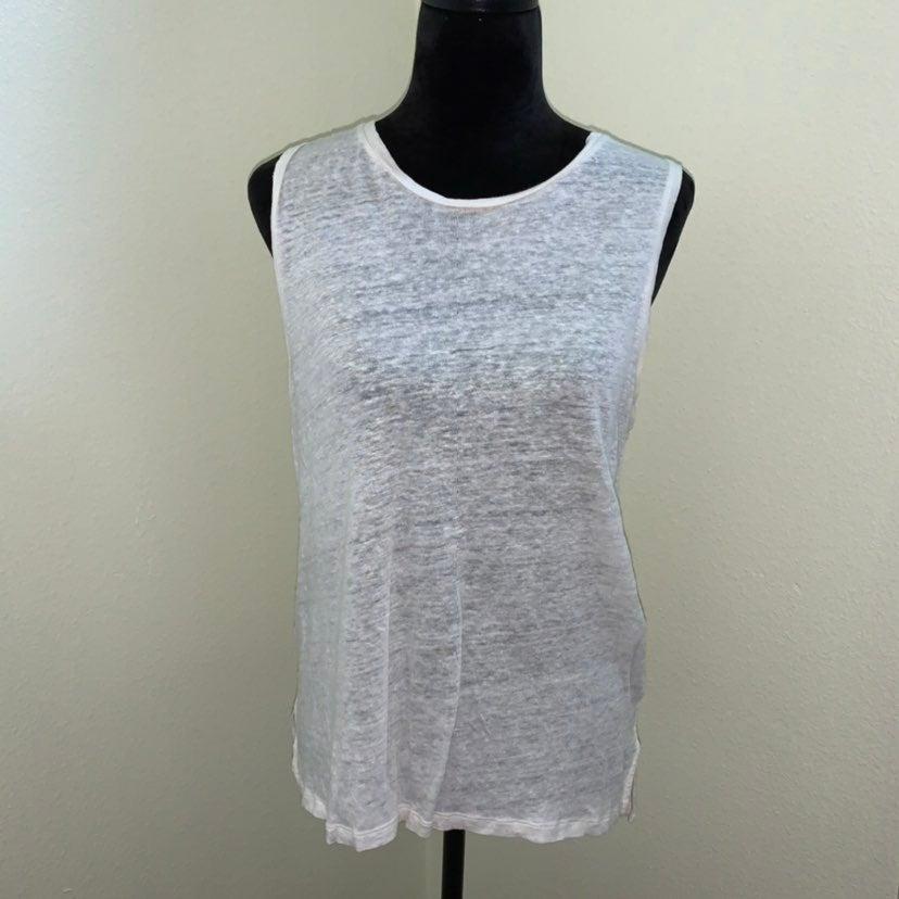 rag and bone sleevless white top L