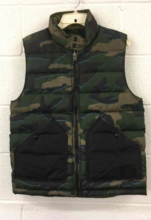 Coach Reversible Green Camouflage Vest