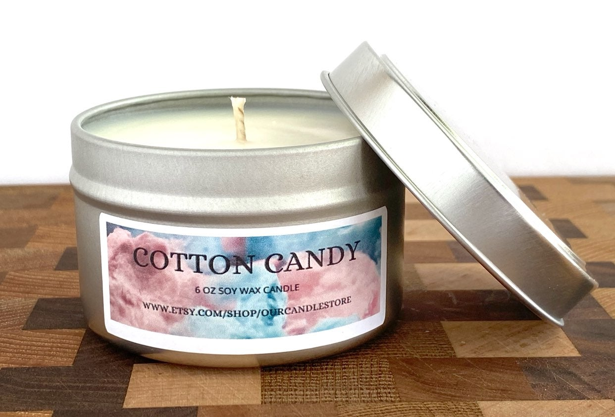 Cotton candy Soy Wax Candle - 6oz