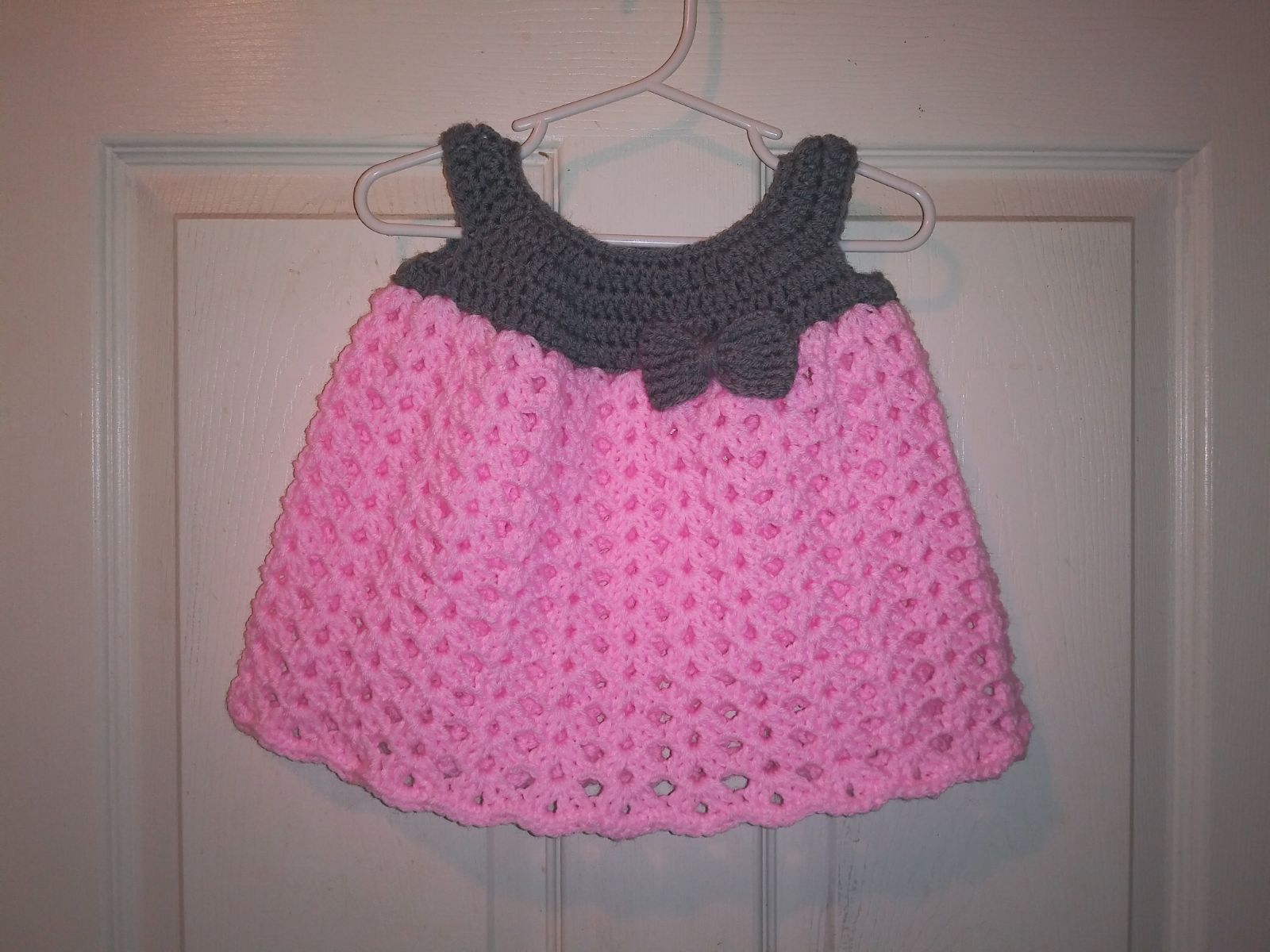 Handmade Crochet Baby Dress