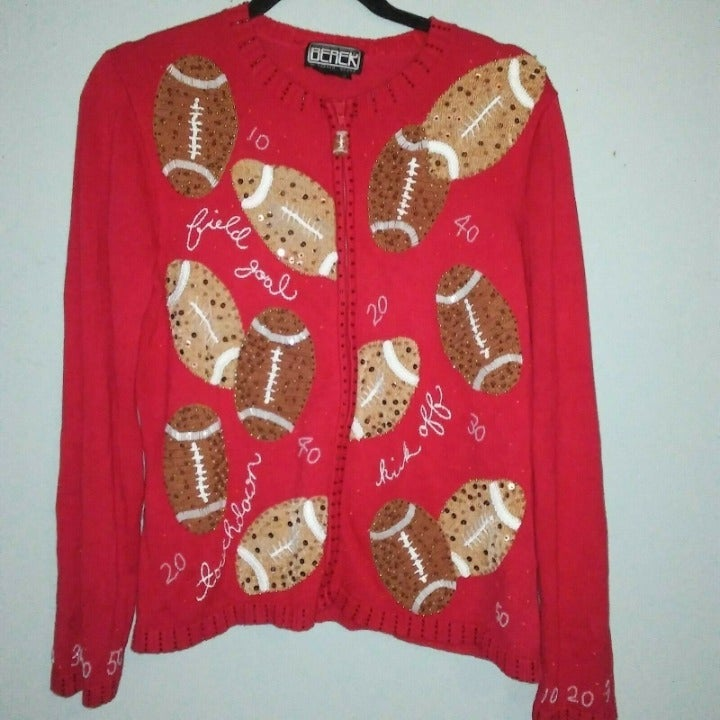Women's embroidered Sweater with footbal