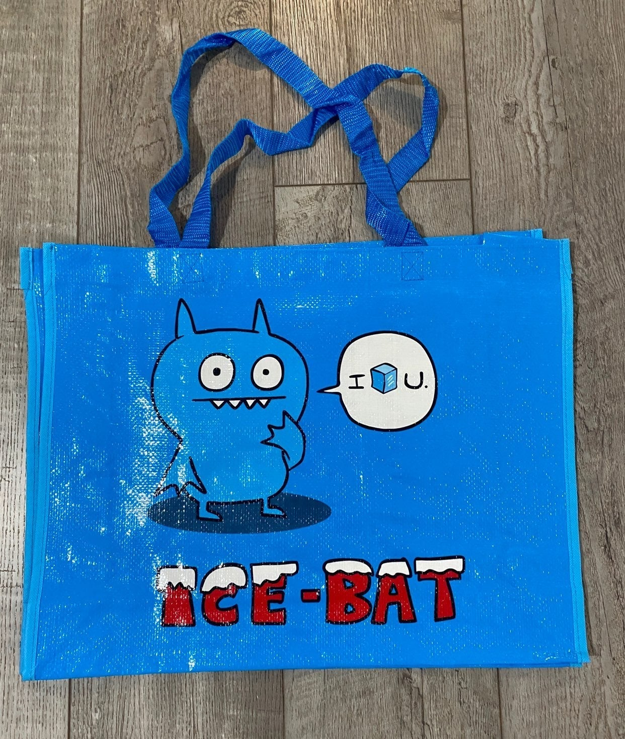 Blue Uglydoll Tote bag with Ice-Bat