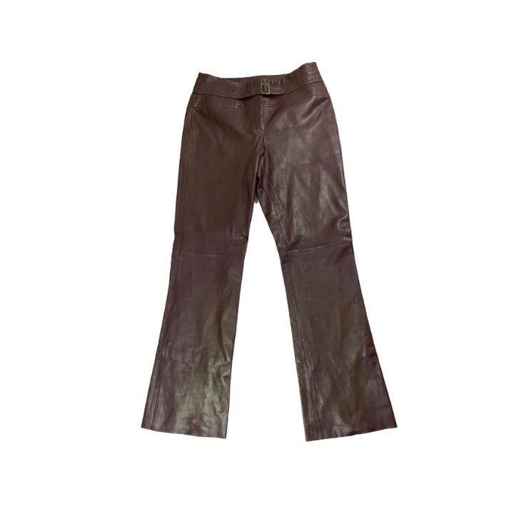 Caché 100% Leather Flare Pants, NWT Sz 8