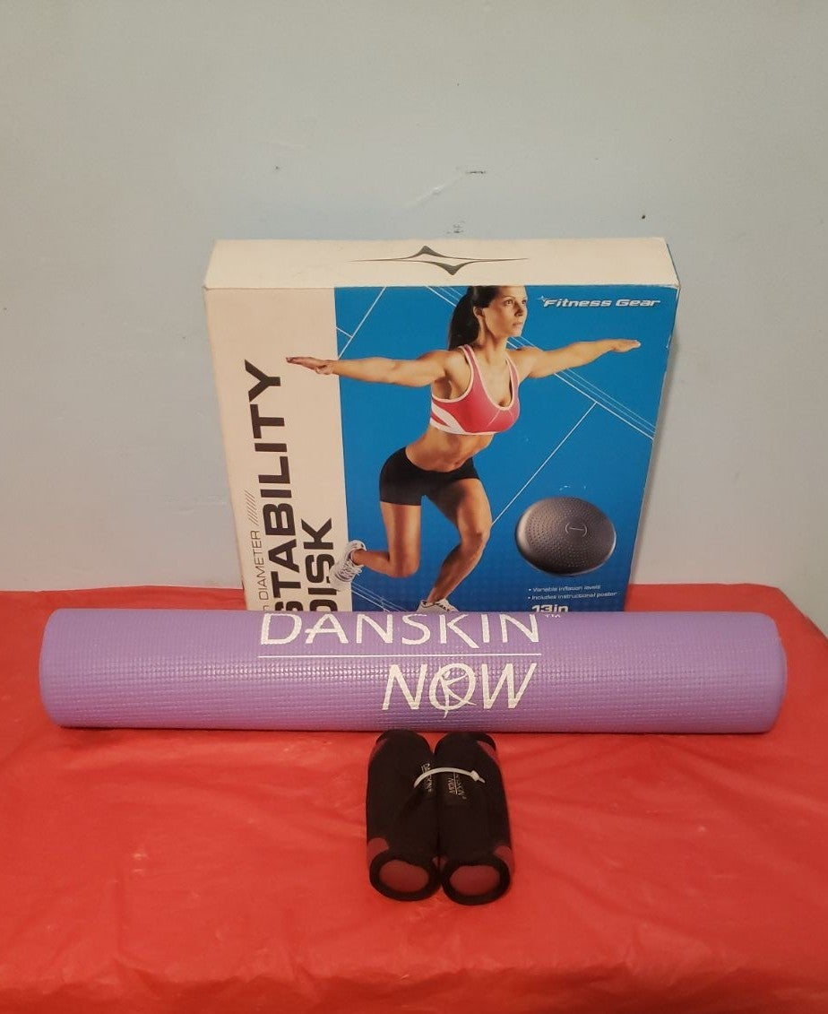Yoga Mat, Weights & Stability Disk 13""