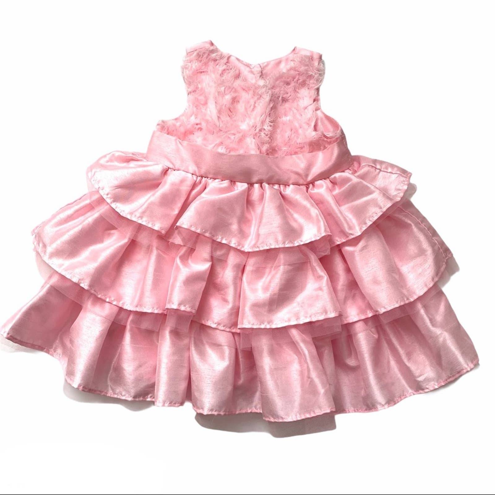 Ruffle pink MudPie Easter, Holiday dress
