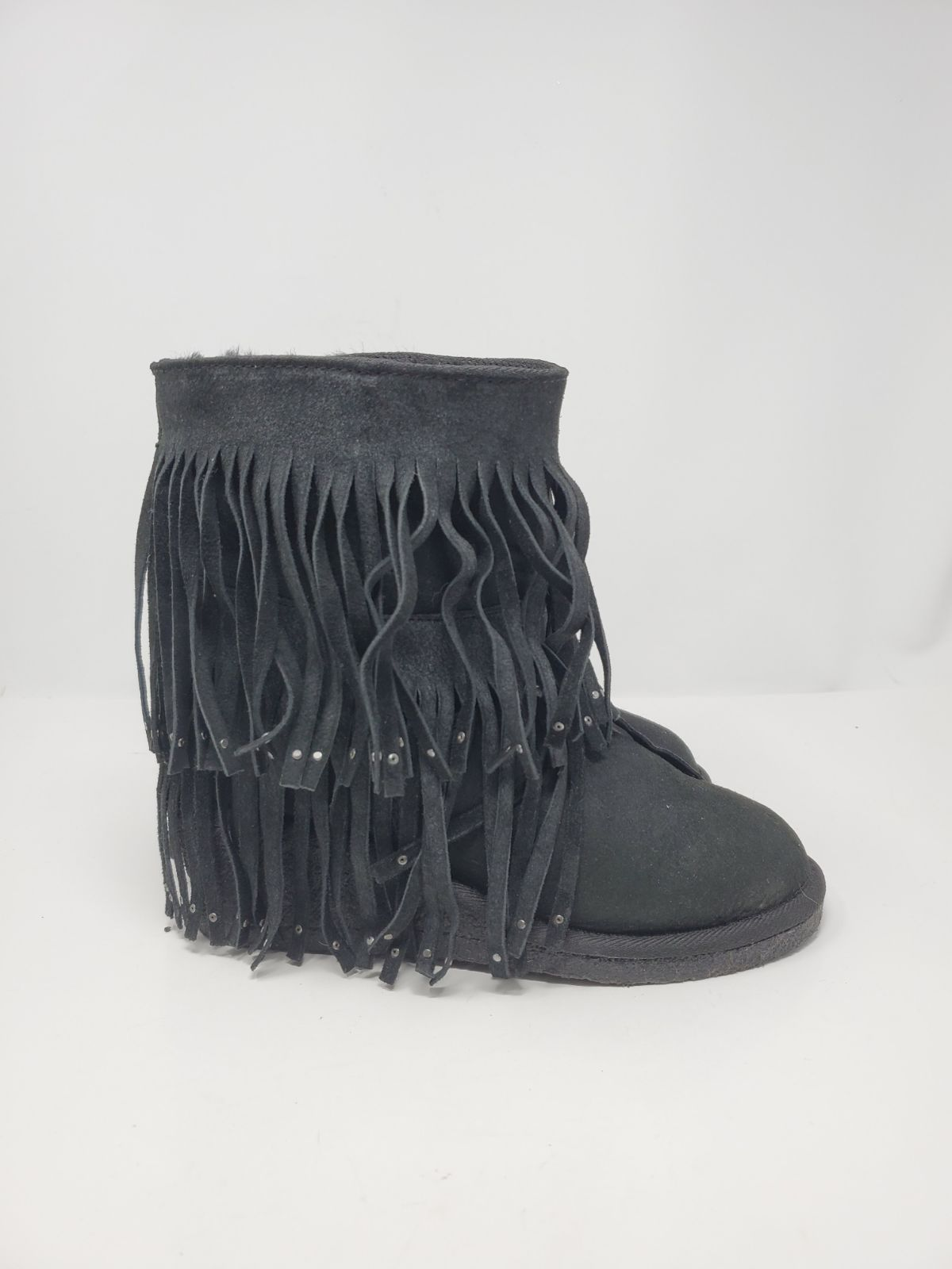 Koolaburra black leather suede boots