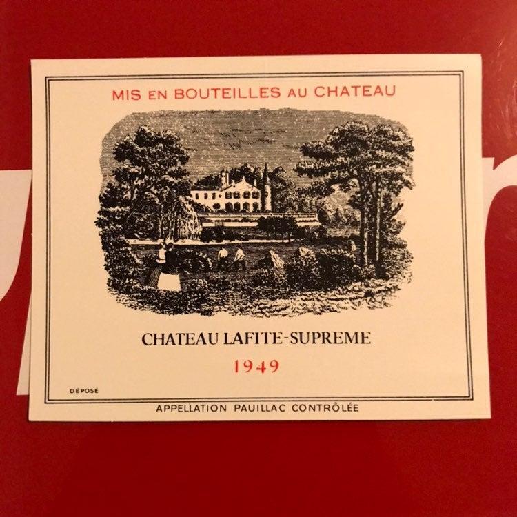 Supreme Chateau Lafite Sticker