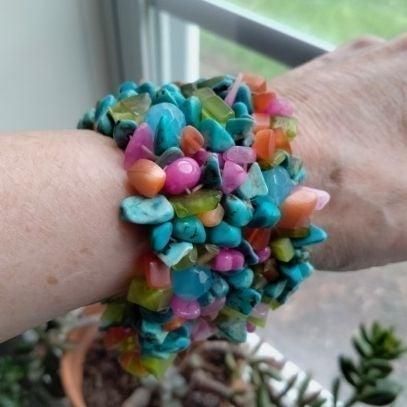 Stretch Bracelet~Turquoise~See Descripti