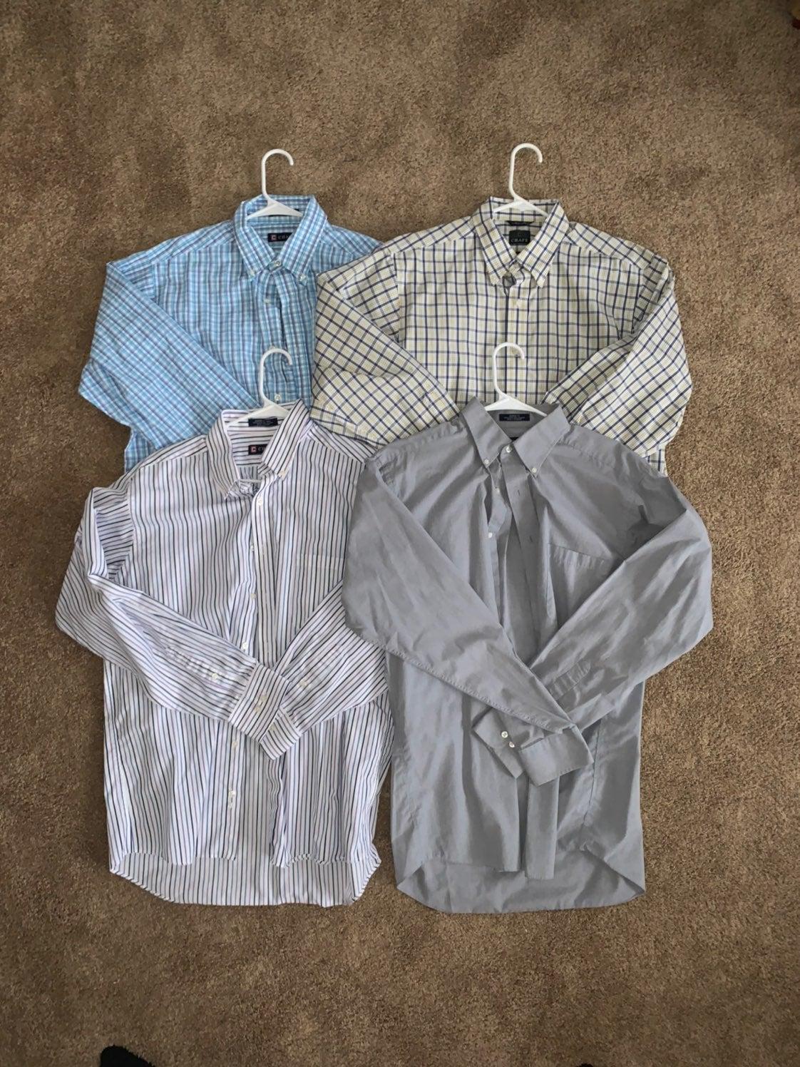 4 Chaps Dress Shirts 16-16.5 34/35