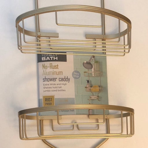 Shower Caddy No Rust Aluminum Champagne