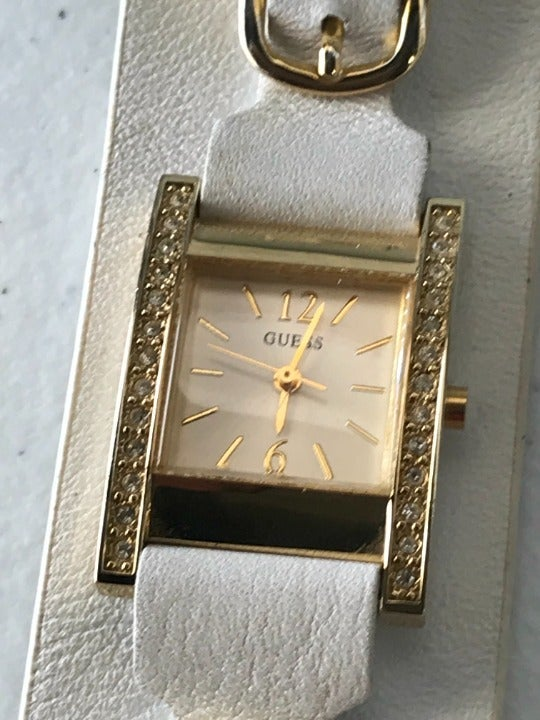 Guess Crystal-Bezel Ladies Watch