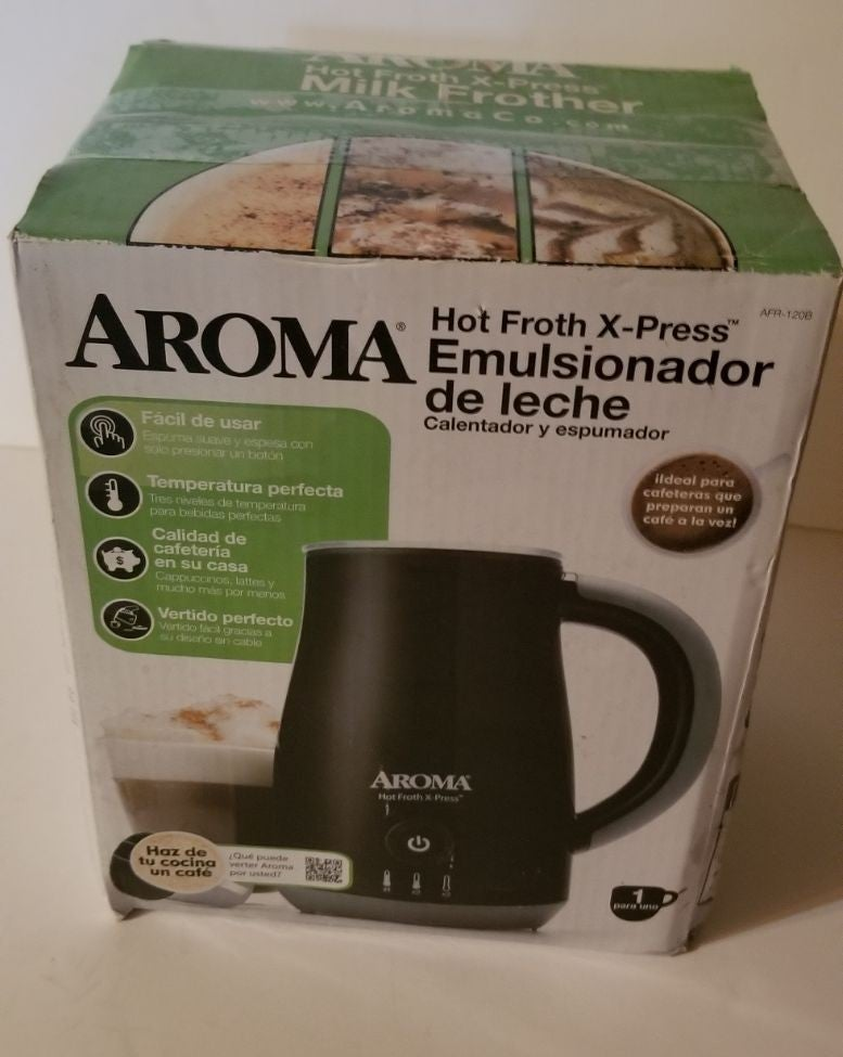 Aroma Milk Frother New in Box AFR-120B
