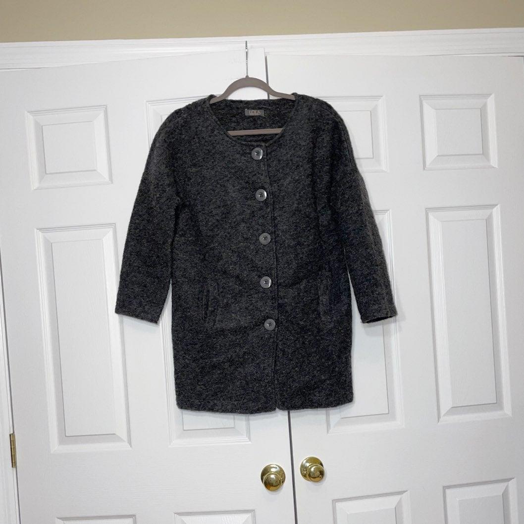 Lola women's grey wool coat