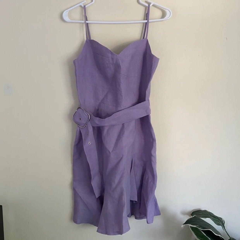 Olivacious Lavender Slanted Bottom Dress