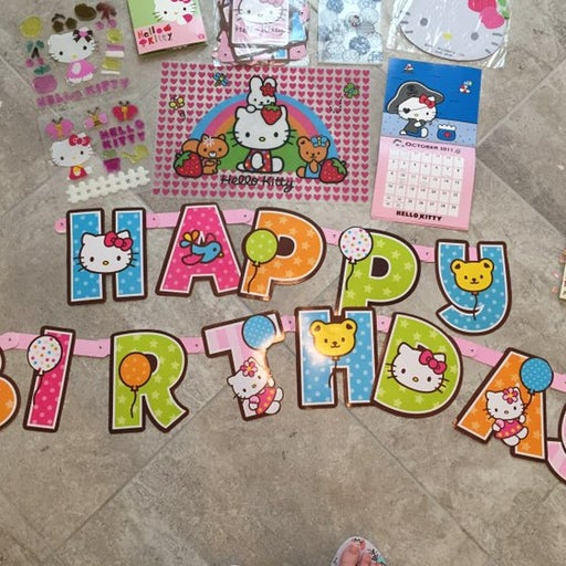 hello kitty sanrio birthday set