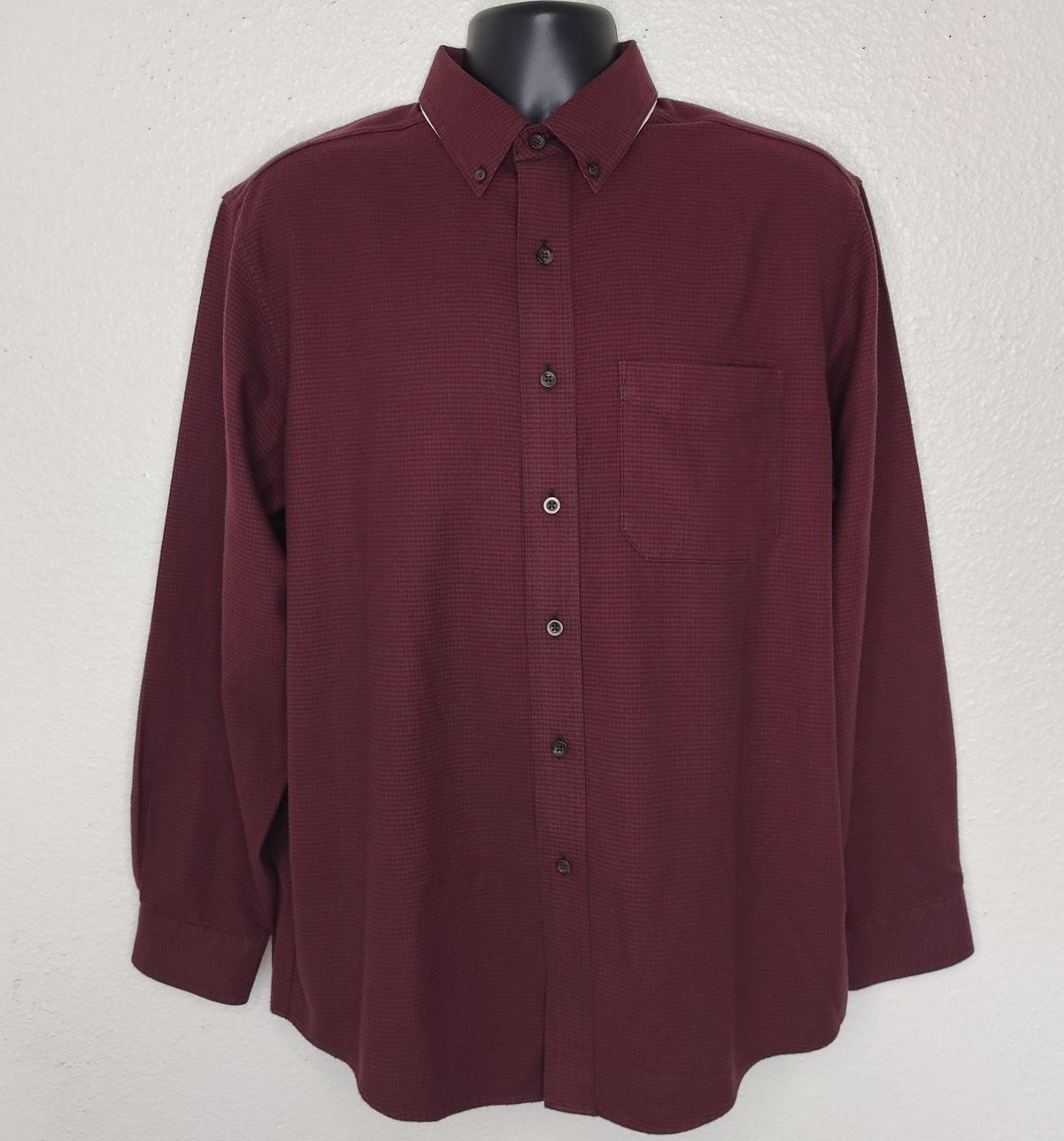 LL Bean Mens M Shirt Flannel Wine NWT