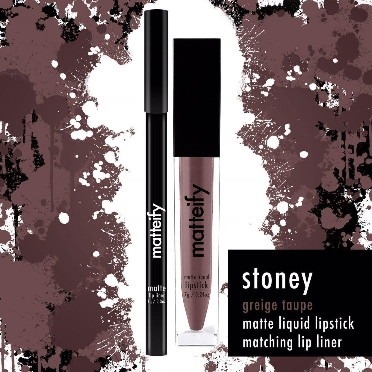 Matte liquid lipstick and lip liner kit