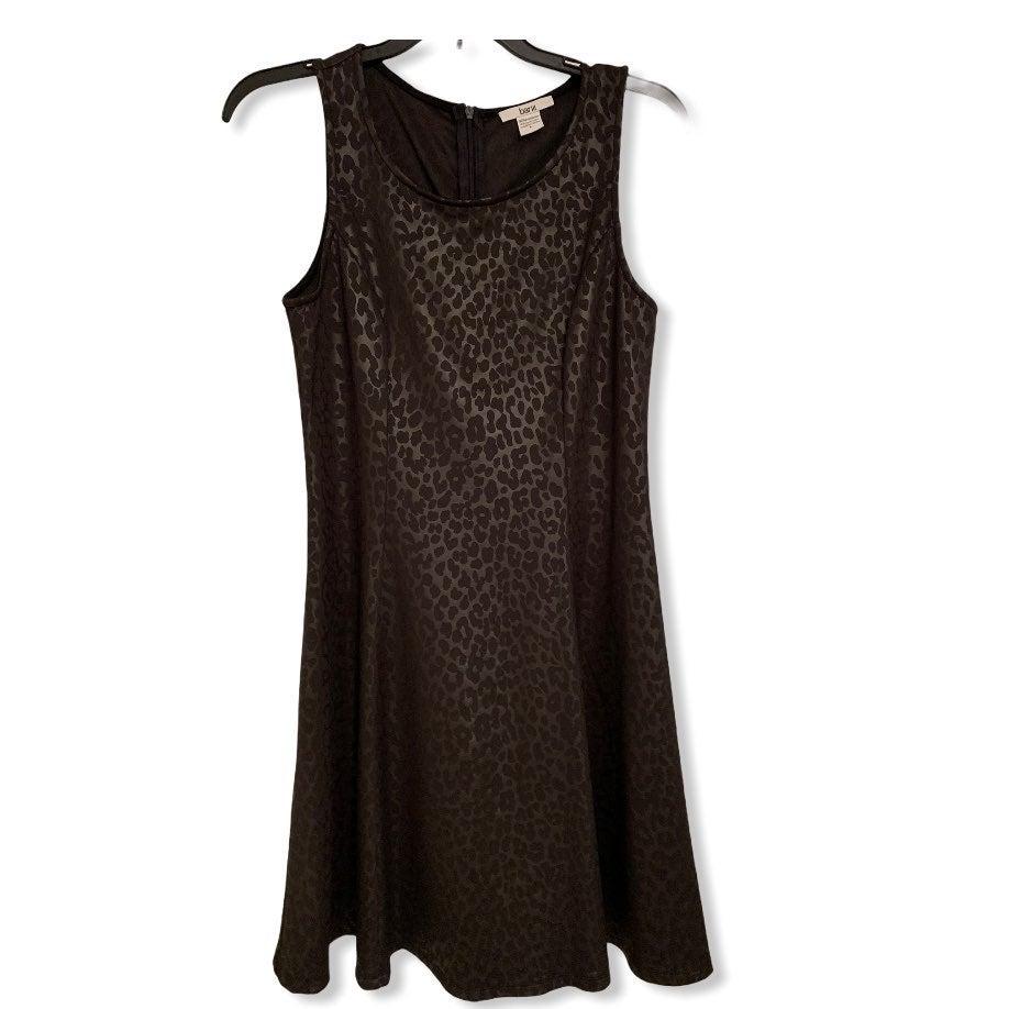 Black Leopard Print Dress NWT