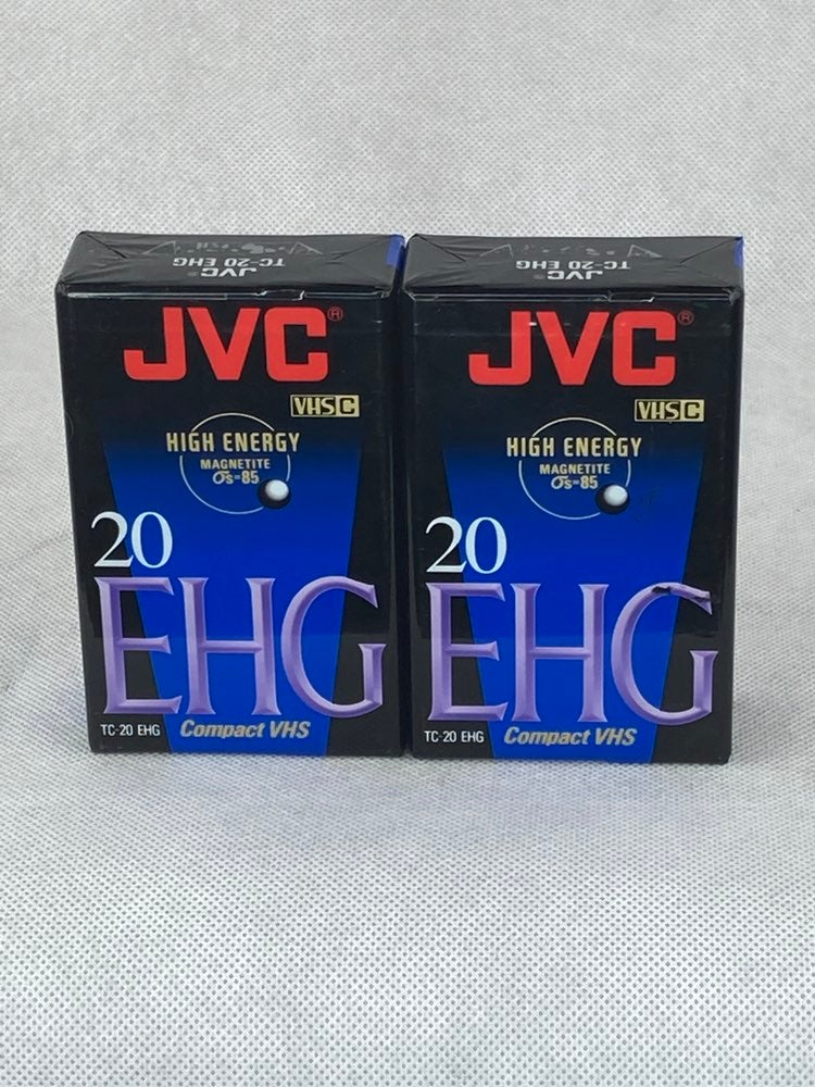 Lot of 2 JVC TC-20 EHG Compact VHS Camco