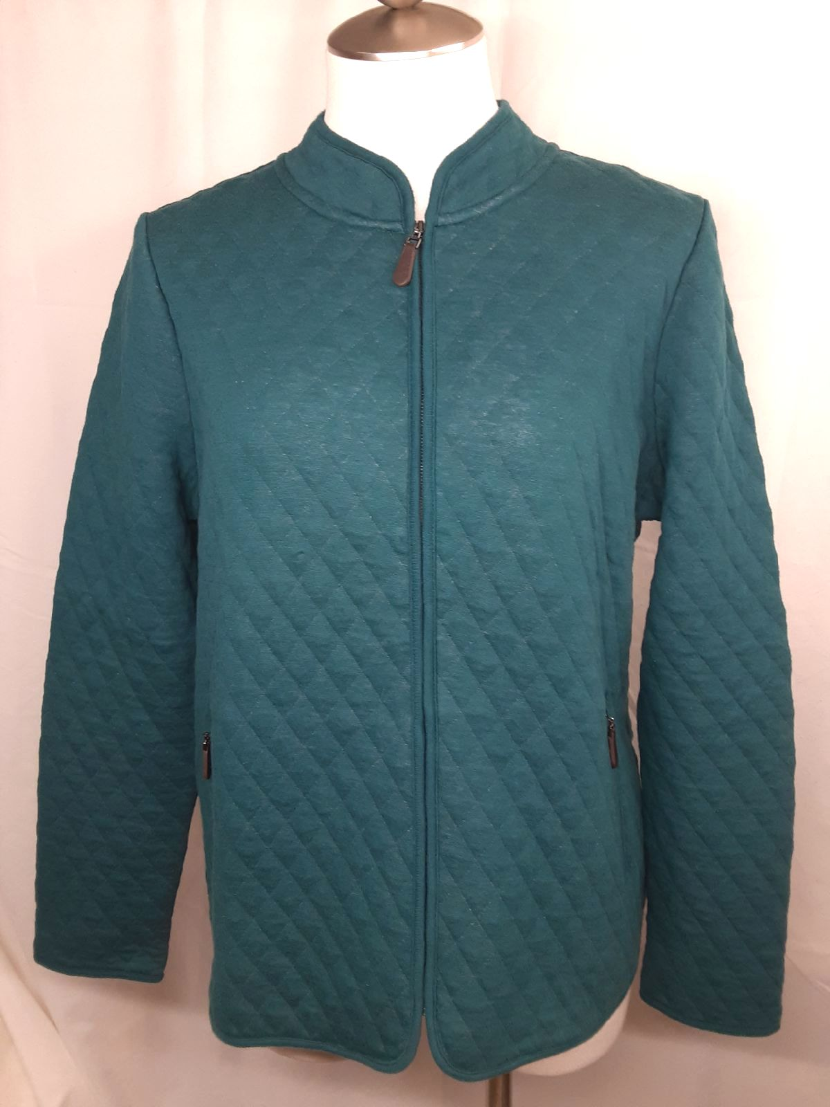 Talbots Quilted Knit Jacket