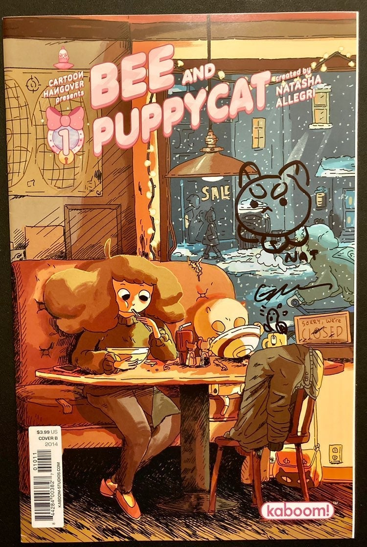 Bee and Puppycat #1 NM Signed Sketched B