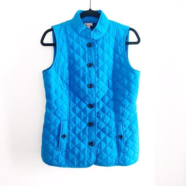 J. Jill Quilted Blue Vest