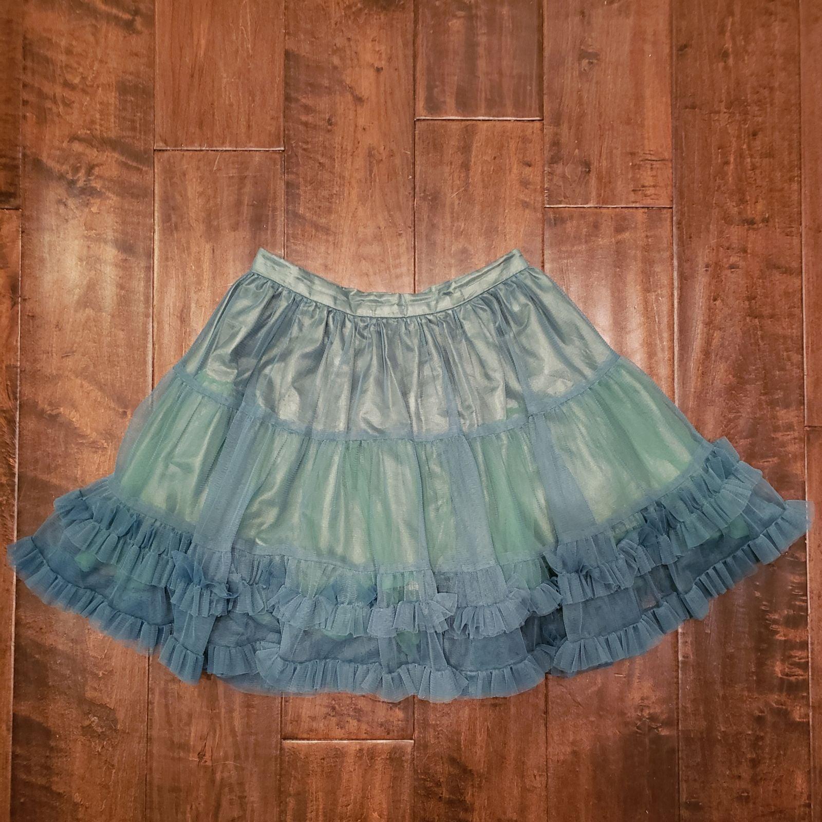 Forever 21 Green Tulle Layered Skirt