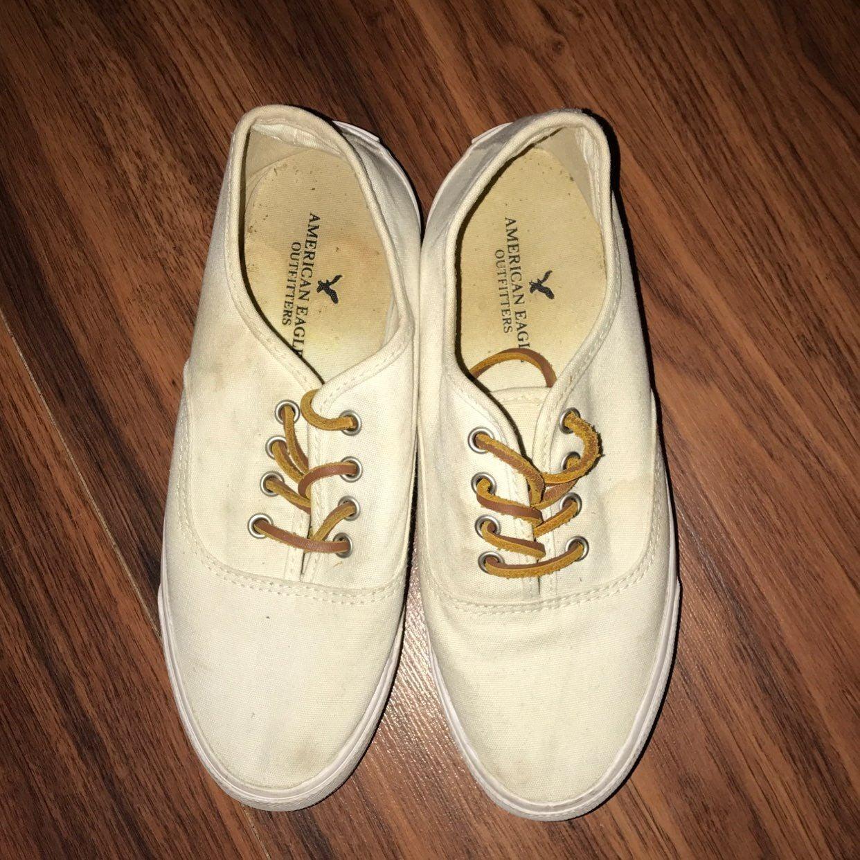 White AE Canvas Shoes