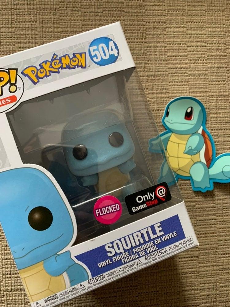 Pokemon squirtle flocked Funko Pop