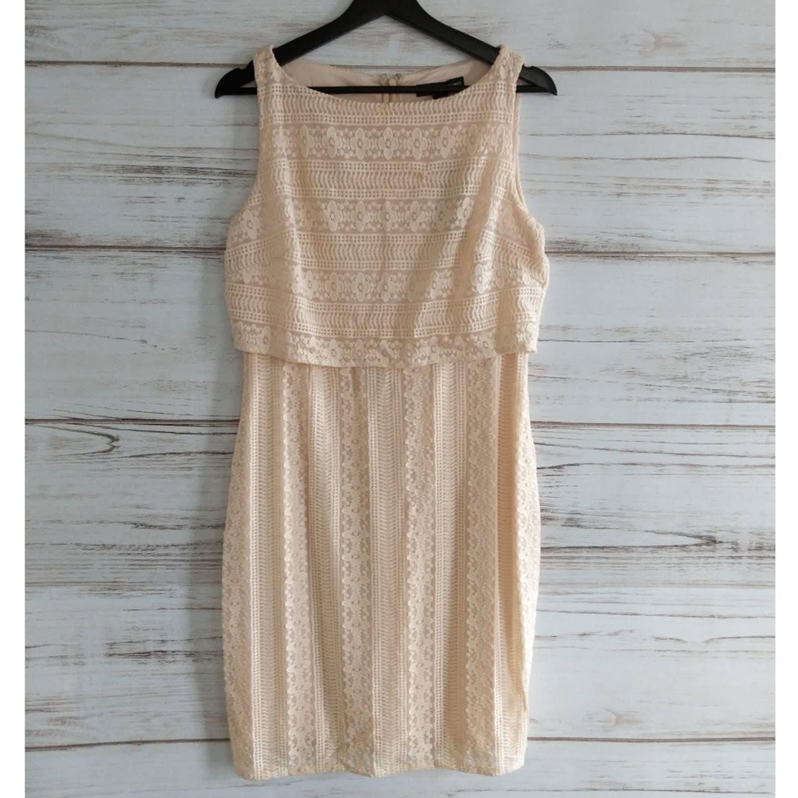 NWT American Living Blush Lace Dress 12