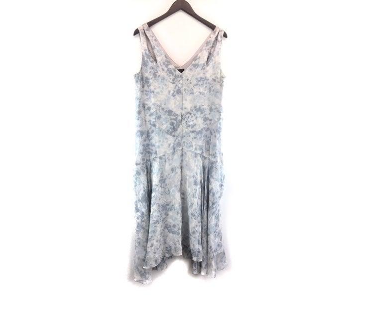 Club Monaco Floral Silk Midi Dress