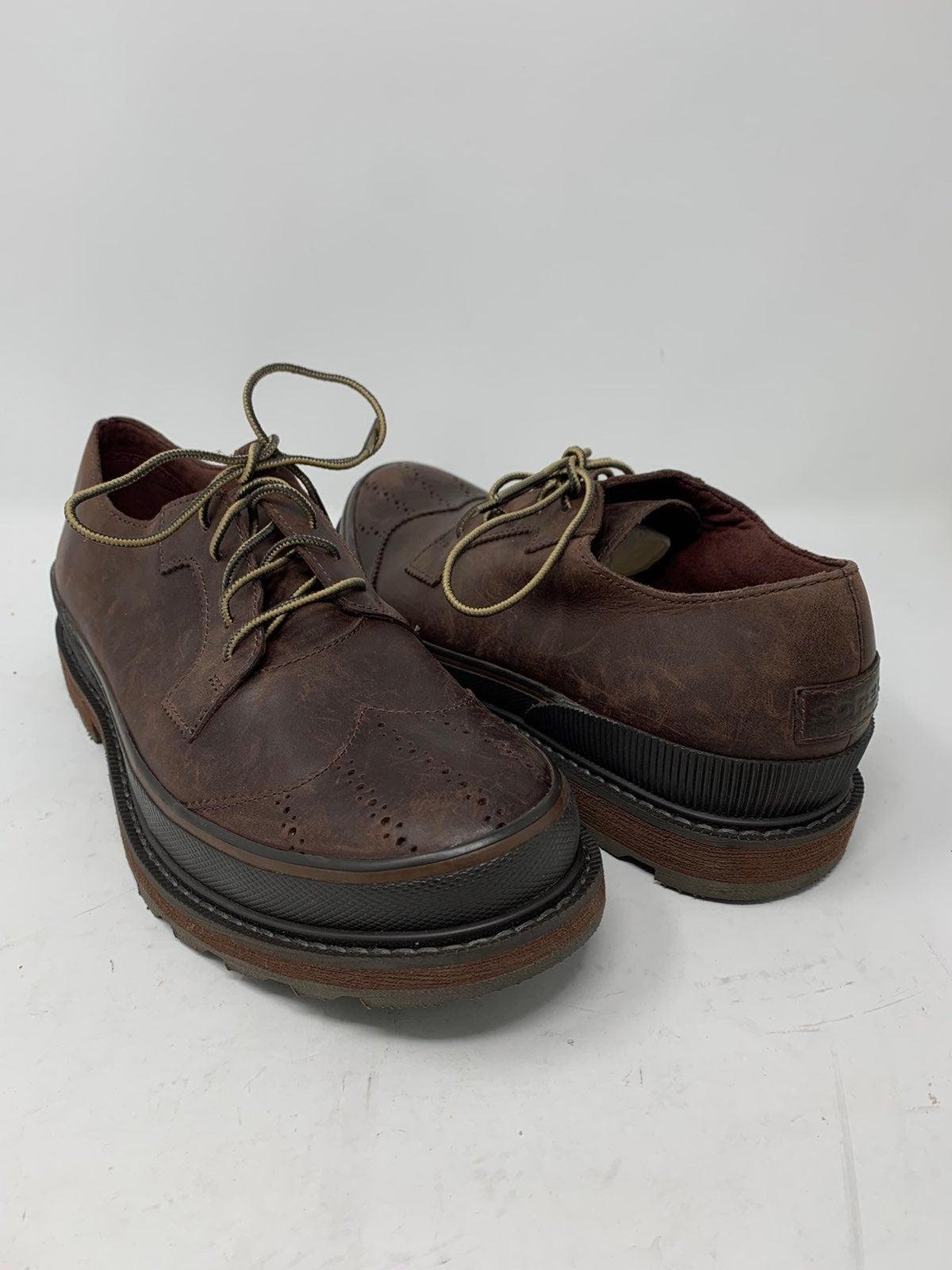 Mens Sorel Oxford Wingtip Dress Shoes 9