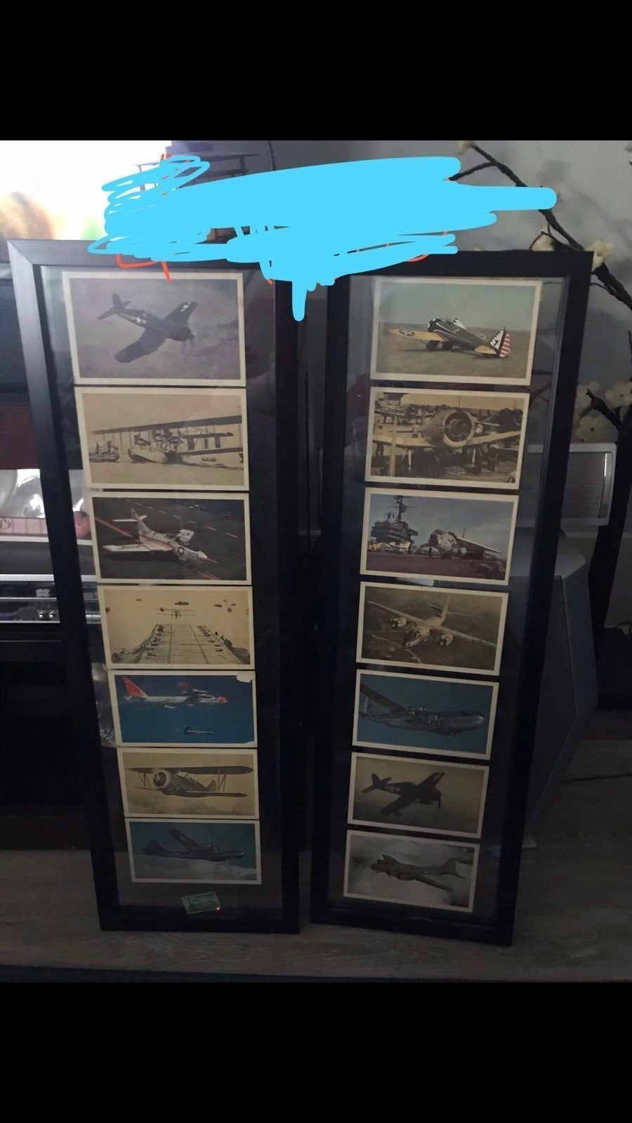 VERY OLD STAMP AND PLANE CARDS