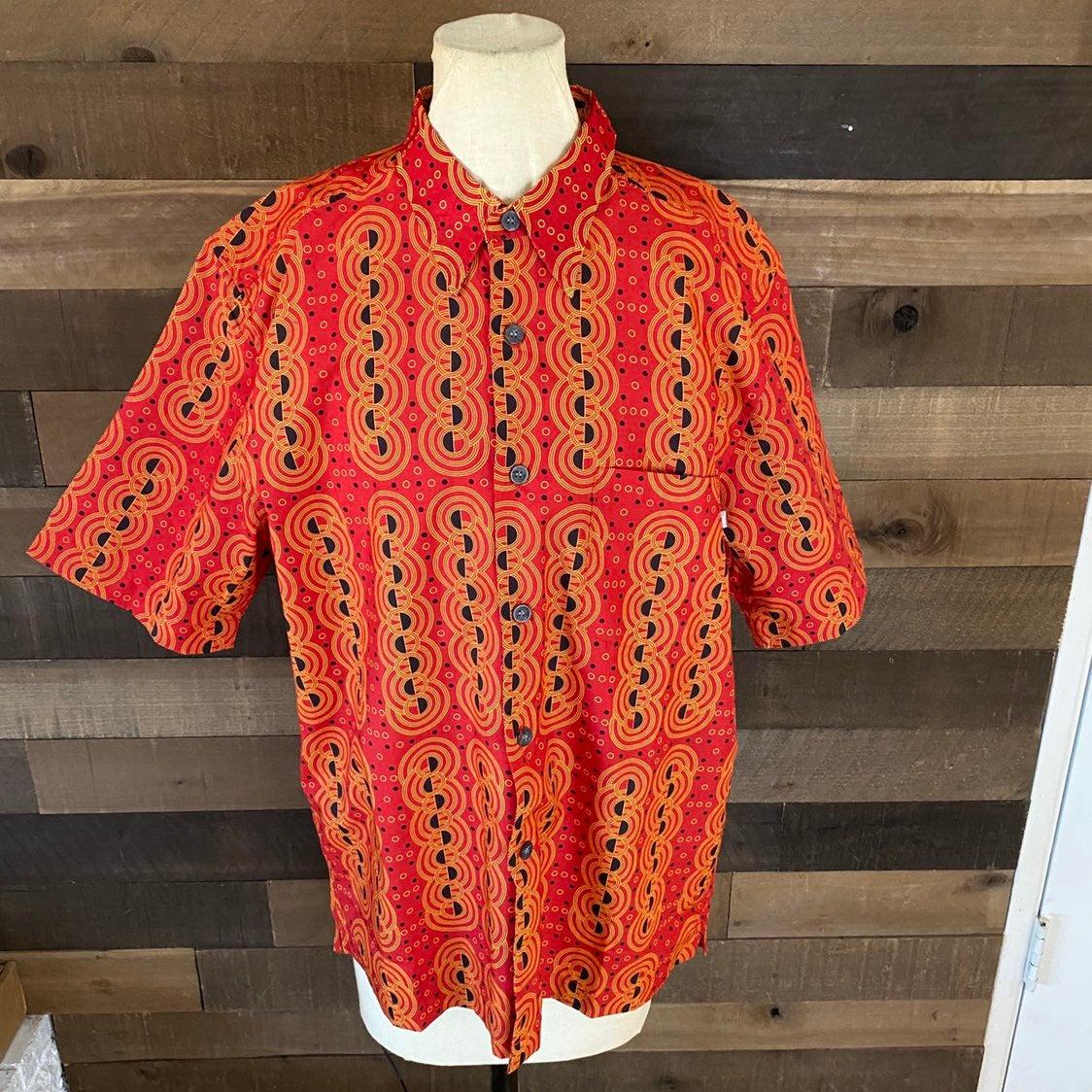 No Fear Mens Short Sleeve Button Up Shir