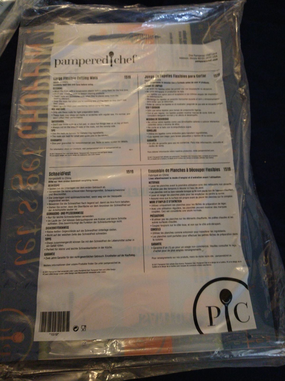 Pampered Chef large cutting mats
