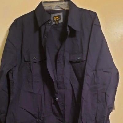 LEE Men's Button Down Shirt Long Sleeve