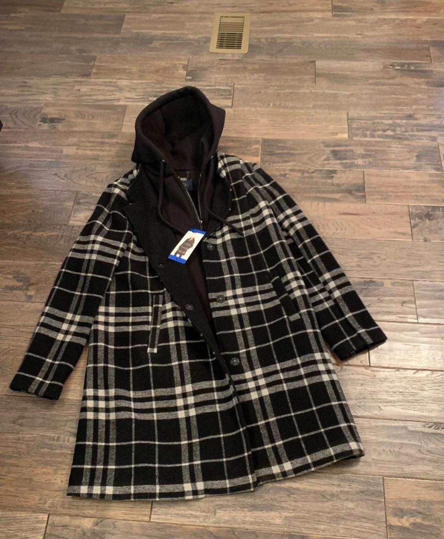 Rachel Roy BNWT Wool Plaid Coat