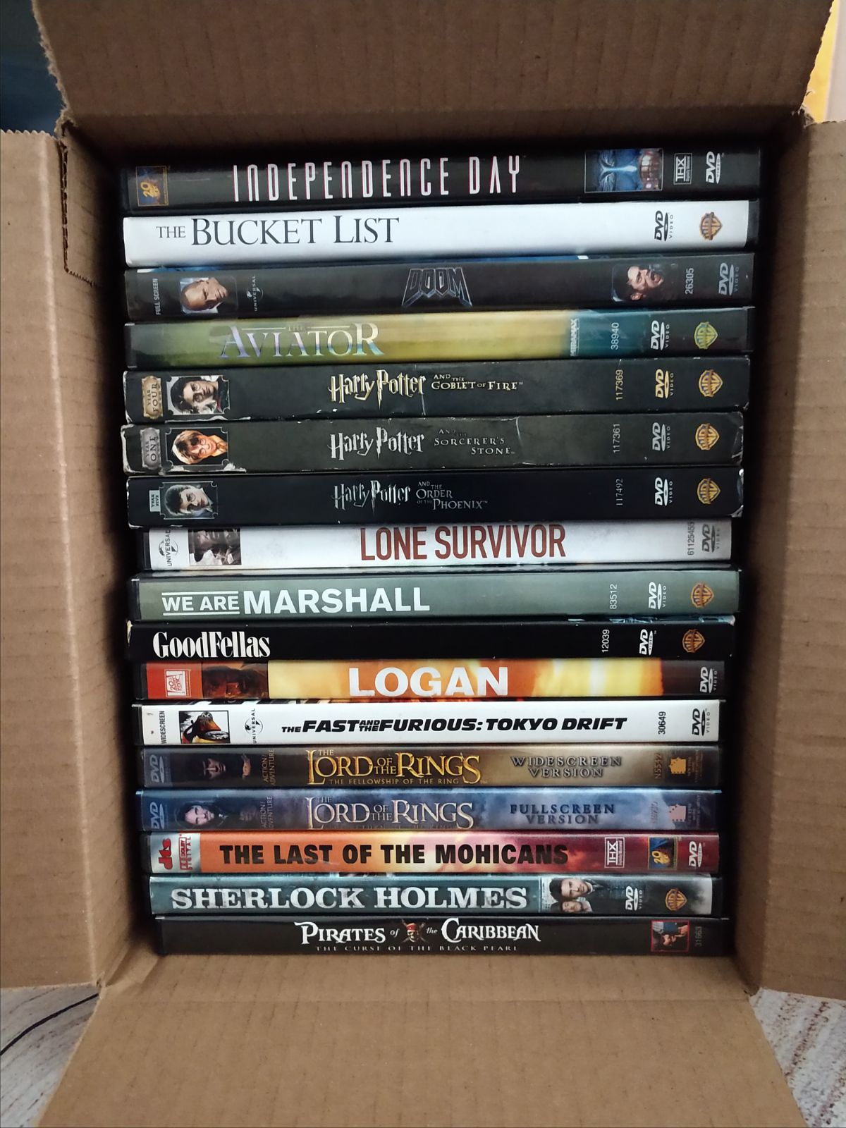 Lot of 17 GREAT ACTION WAR DVD movies