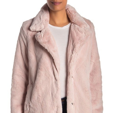 Lucky Brand Womens Jacket Faux Fur M