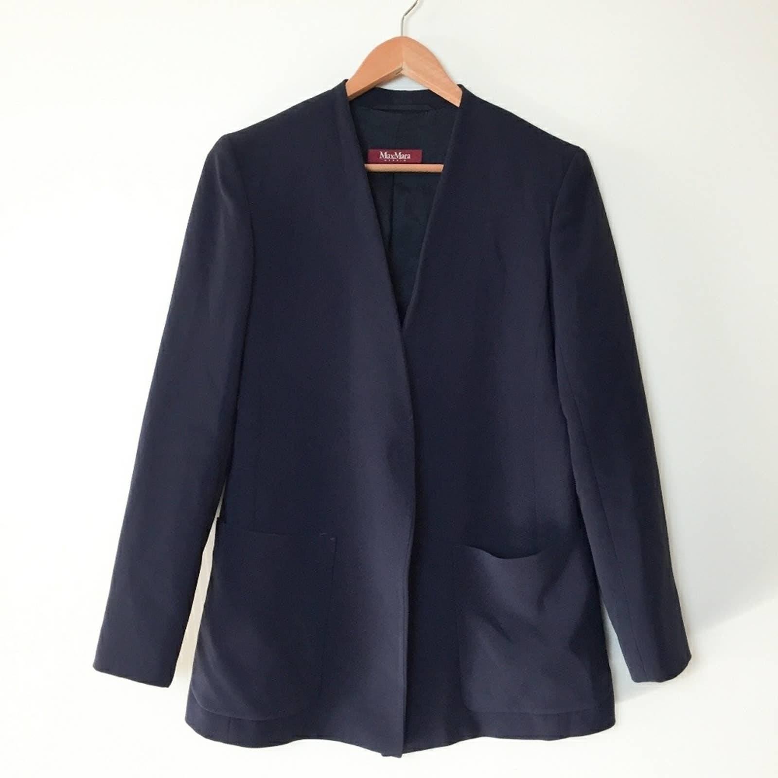 MaxMara Button Front Structured Jacket