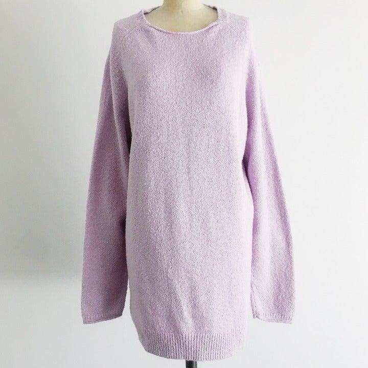 J Jill Cotton Lavender Pullover Sweater