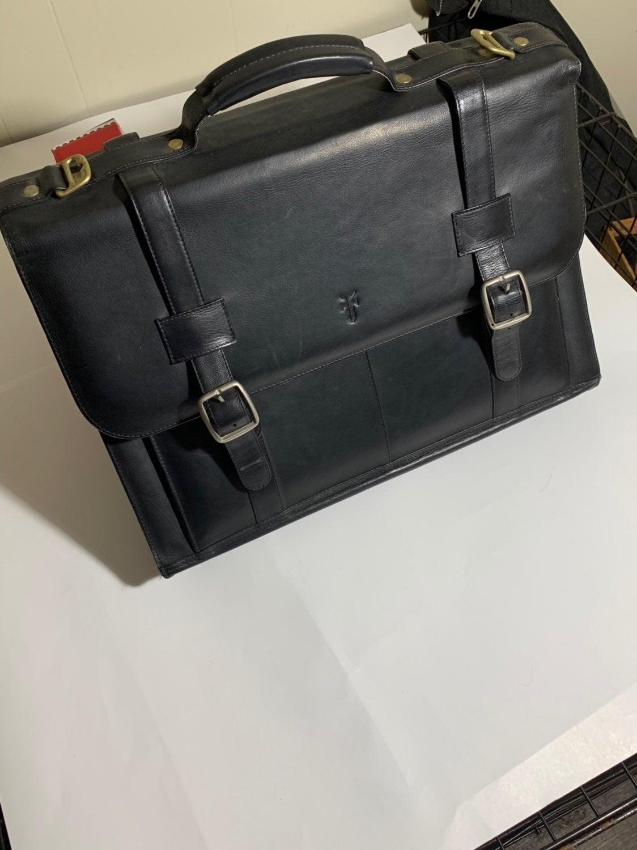 Frye Black leather Messenger Laptop Bag