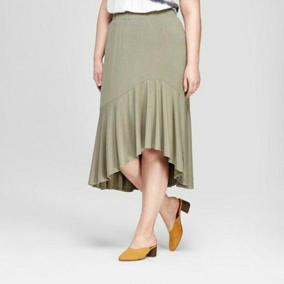 Ava & Viv Ruffle Hi Lo Skirt Size 4X
