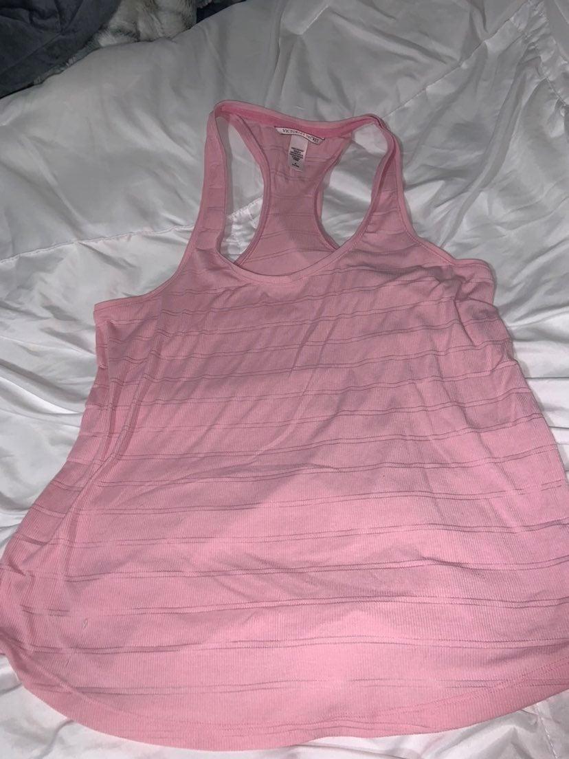 Victorias secret pink ribbed Tank top